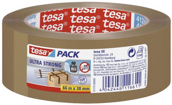 Tesa® Packband 66 m x 38 mm, braun tesapack® Ultra Strong, PVC