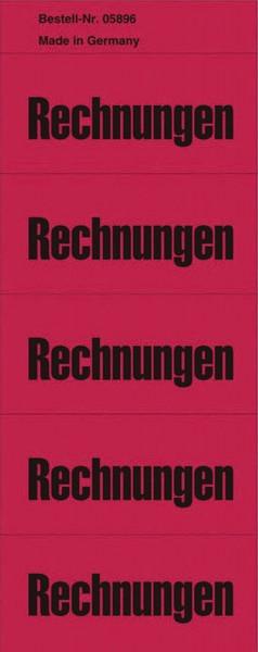 Inhaltsschilder Rechnungen - Beutel mit 100 Stück, rot