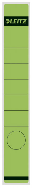 1648 Rückenschilder - Papier, lang/schmal, 10 Stück, grün