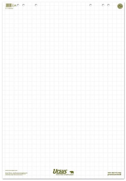 Ursus Green Flip Chart 68x99cm 20 Blatt 80g/qm kariert