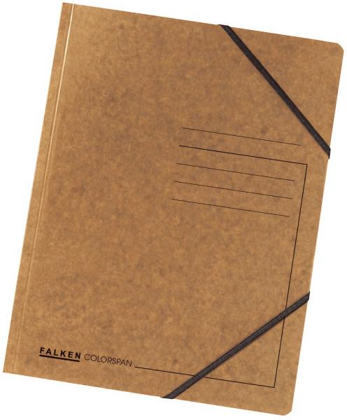 Falken Eckspanner A4 Colorspan intensiv braun, Karton 355 g/qm