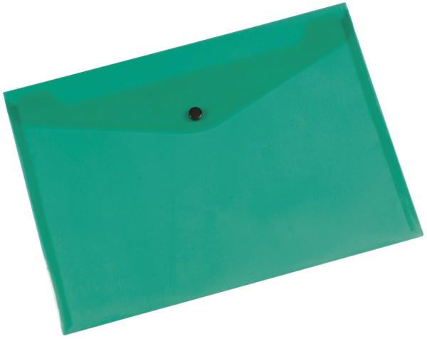 Q-Connect Dokumentenmappe transluzent grün, A4 bis zu 50 Blatt