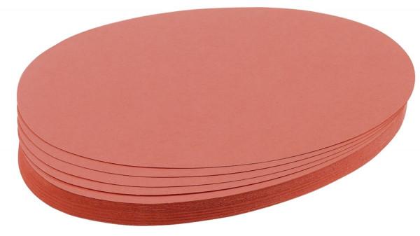 Moderationskarte, Oval, 190 x 110 mm, rot, 500 Stück