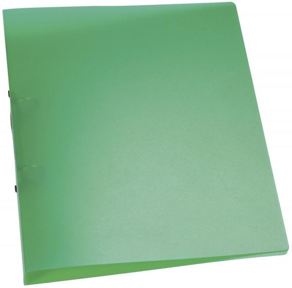 Q-Connect Ringbuch grün-transparent - A4, 2-Ring, Ring-Ø 25 mm,