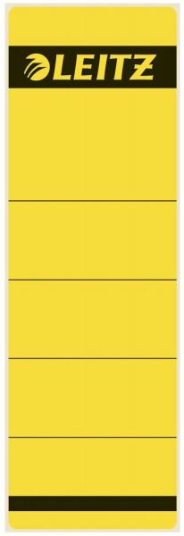 1642 Rückenschilder - Papier, kurz/breit, 10 Stück, gelb