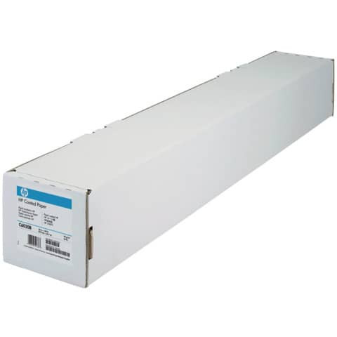 HP Coated-Plotterpapierrolle - 610 mm x 45,7 m, 90 g/qm, 1 Rolle