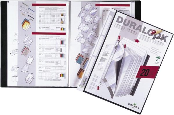 Sichtbuch DURALOOK® PLUS - A4, 20 Hüllen, 17 mm, schwarz
