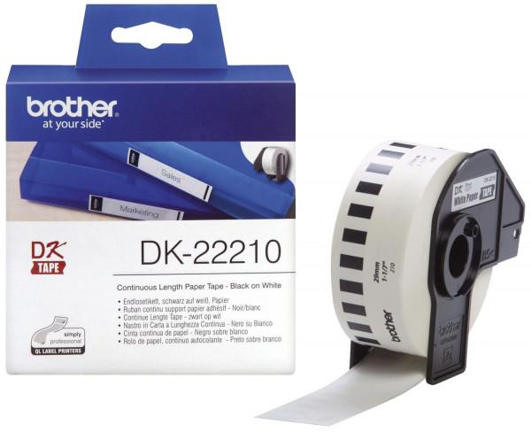 DK-Endlosetiketten Papier-Etiketten 29 mm x 30,48 m weiß
