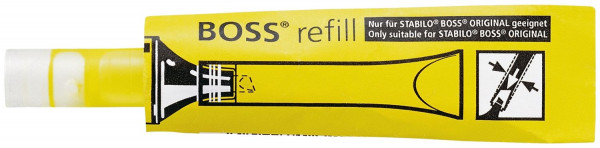 Nachfüllsystem Stabilo® BOSS® ORIGINAL refill, ORIGINAL, 3 ml, gelb