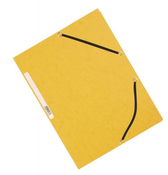 Q-Connect Eckspanner Karton A4 mit Gummizug gelb