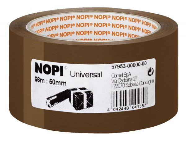 Nopi Packband braun Universal, 50 mm x 66 m,