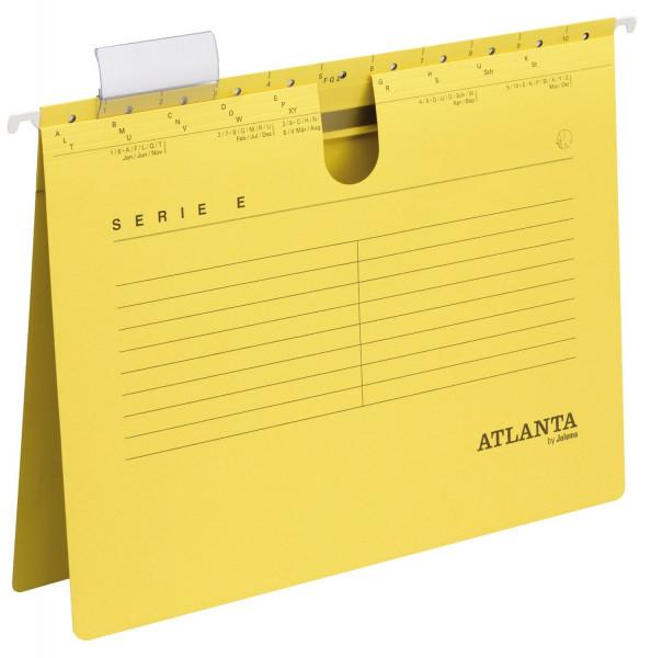 Atlanta Hängehefter gelb Serie E, A4 kfm. Heftung, Kraftkarton 230 g/qm
