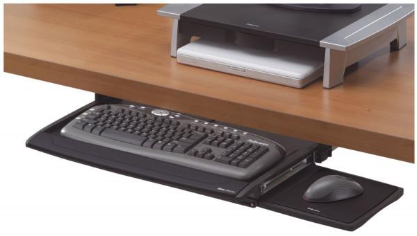 Verstellbare Tastaturschublade mit Mausablage