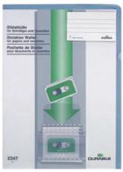 Diktathülle, aus PVC, 0,28 mm, für A4, blau
