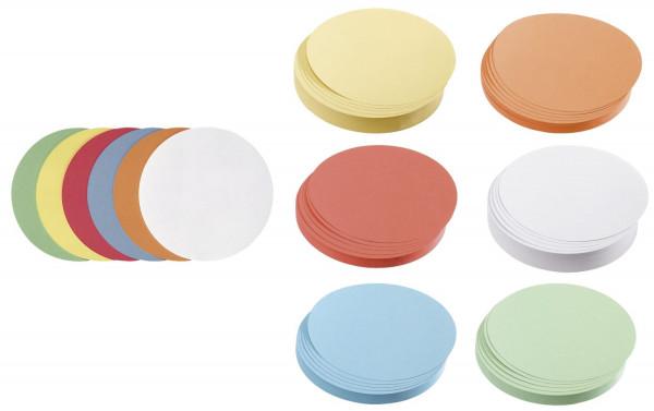 Moderationskarte Kreis mittel, 140 mm, sortiert, 500 Stück