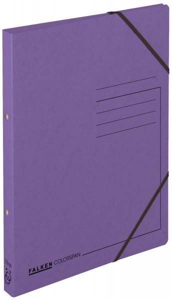 Falken Ringbuch Colorspankarton violett A4, 2-Ring, Gummizug