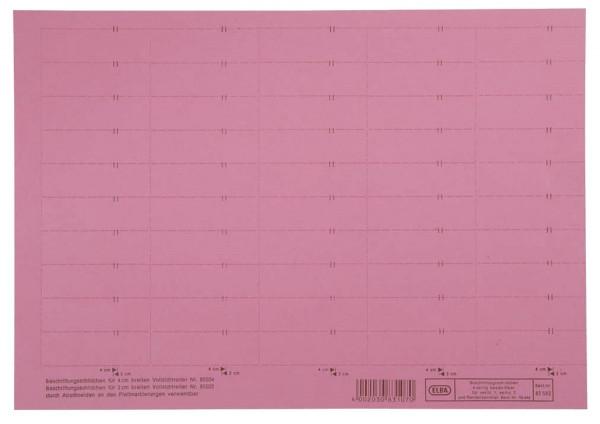 vertic® Beschriftungsschild für Registratur, 58 x 18 mm, rot, 50 Stück