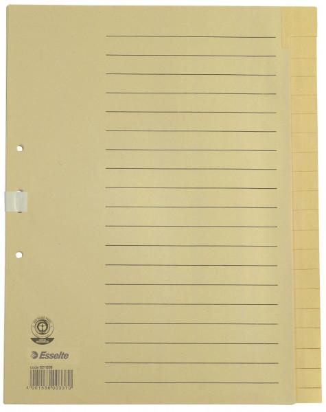 Esselte 621006 Register blanko, A4, Papier, 20 Blatt, chamois