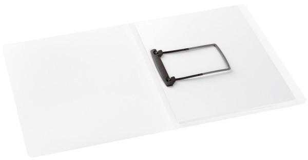 Clipmappe PP mit Jalema Clip Heftmechanik - A4, weiß-transparent