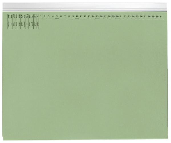 Kanzleihefter A gefalzt grün - Linksheftung (Behördenheftung), 1 Tasche, 1 Abheftvorrichtung,