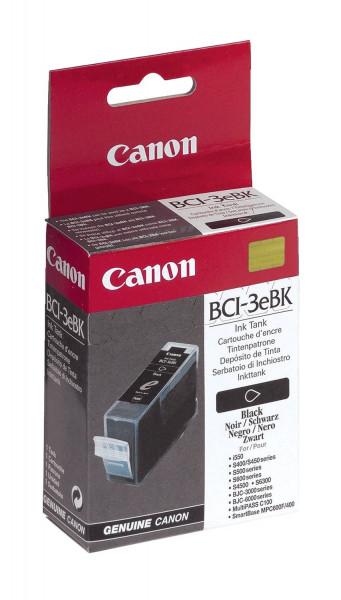 Canon BCI 3e BK Inkjet-Druckpatronen schwarz, 500 Seiten, 4479A002