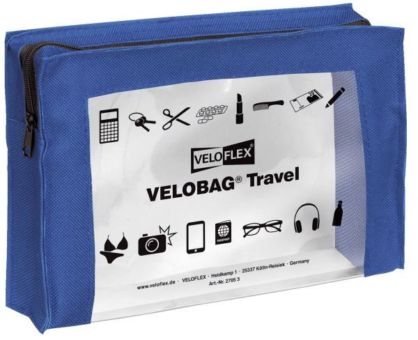 Veloflex® Reißverschlusstasche VELOCOLOR® Travel - PVC, blau, 230 x 160 mm