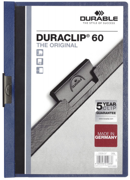 Klemm-Mappe DURACLIP® 60, DIN A4, dunkelblau