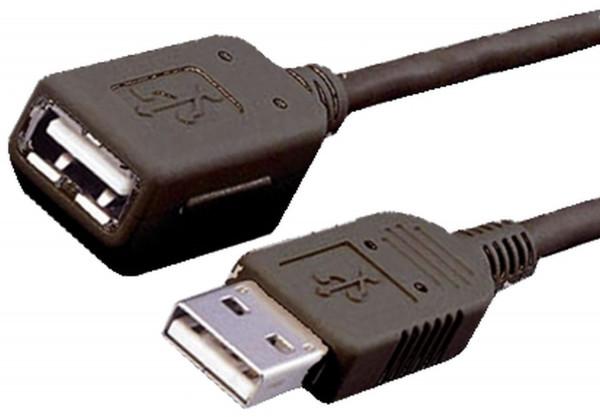 USB-Verlängerungskabel 5m USB 2.0, schwarz