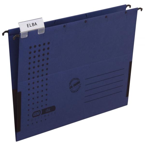 Elba Hängetasche chic ULTIMATE®, dunkelblau, Karton (RC), 230 g/qm, A4,