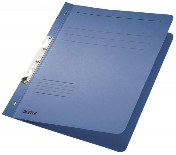 Leitz 3746 Schlitzhefter, blau ganzer Vorderdeckel, A4, kfm. Heftung, Manilakarton 250 g/qm