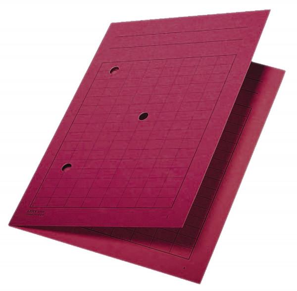 Leitz 3998 Umlaufmappe rot, A4, Gitterdruck, Manilakarton 320 g/qm