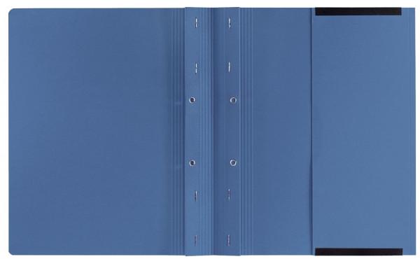 Kanzleihefter B ungefalzt - Rechtsheftung/Linksheftung, 1 Tasche, 2 Abheftvorrichtung, blau