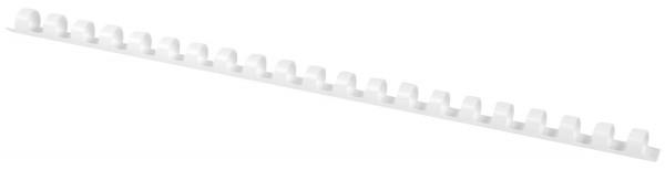 Plastik-Binderücken, 8 mm, für 45 Blatt, weiß, 100 Stück
