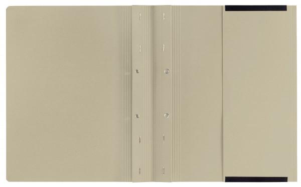 Kanzleihefter B ungefalzt - Rechtsheftung/Linksheftung, 1 Tasche, 2 Abheftvorrichtung, grau