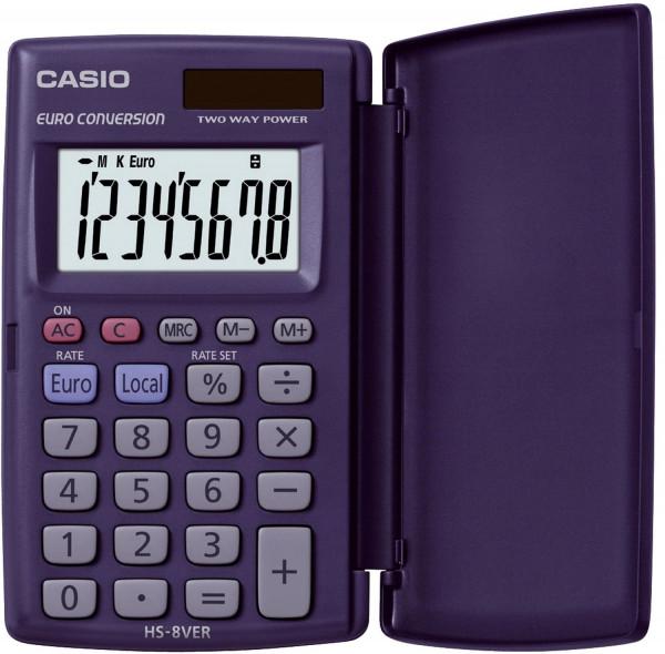 Casio® Taschenrechner HS-8VER, Solar/Batterie, Größe: 62,5 x 104 x 10 mm