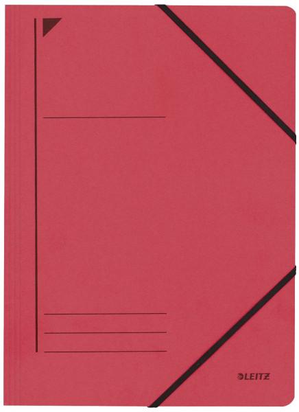 Leitz 3980 Eckspanner, rot, A4, 250 Blatt, Pentarec-Karton