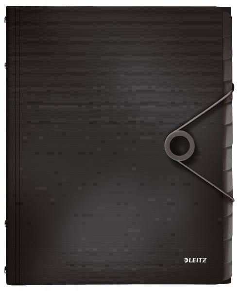 4570 Ordnungsmappe Solid - 12 Fächer, PP, schwarz