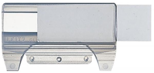 6116 Vollsichtreiter, 60 mm, 4-zeilig, Kunststoff, transparent
