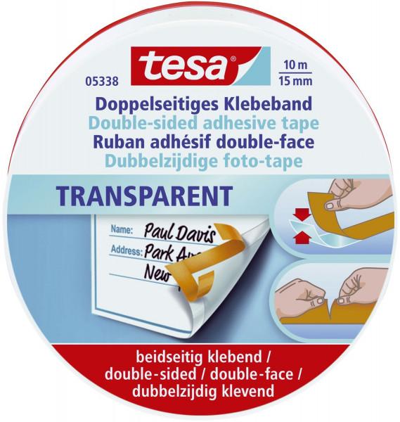 Tesa 5338 Doppelseitiges Klebebandband PP, 10mx15mm
