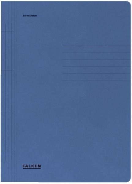 Falken Karton Schnellhefter blau Manilakarton