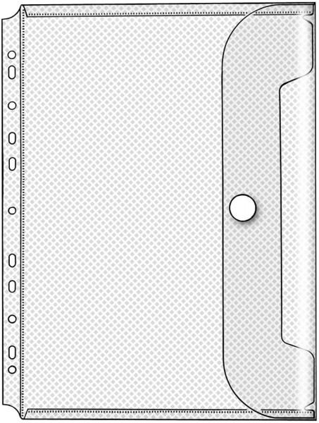 Dokumentenhüllen Serie Crystal - transparent, für A4, Packung mit 10 Stück