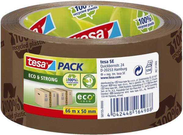 Tesa® 58155 Packband braun 66 m x 50 mm, tesapack® Eco & Strong, PP