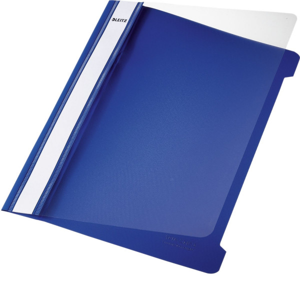 Leitz 4197 Schnellhefter, A5, blau langes Beschriftungsfeld, PVC,