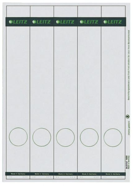 1688 PC-beschriftbare Rückenschilder - Papier, lang/schmal, 125 Stück, grau