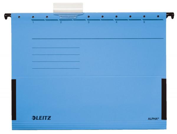 5 Leitz 1986 Hängetaschen ALPHA® blau mit Fröschen