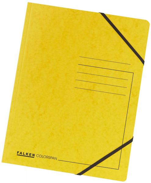 Falken Eckspanner A4 Colorspan intensiv gelb, Karton 355 g/qm
