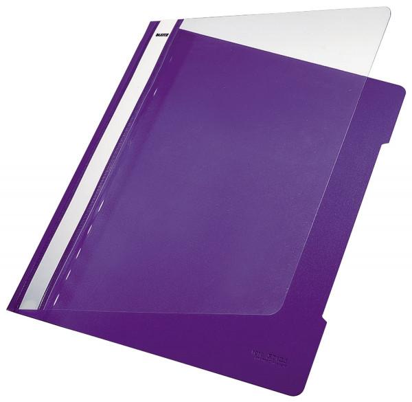 Leitz 4191 PVC Hefter violett Standard, A4, langes Beschriftungsfeld