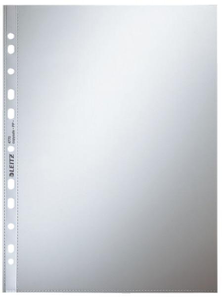 Leitz 4770 Prospekthülle, A4, PP, glasklar, 0,08 mm, farblos, 100 Stück