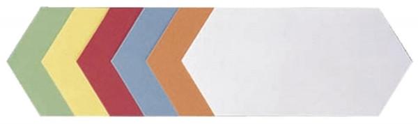 Moderationskarte Rhombus, 205 x 95 mm, sortiert, 500 Stück