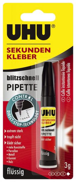 UHU® SEKUNDENKLEBER blitzschnell PIPETTE 3 g